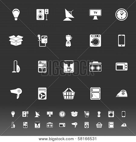 Home Related Icons On Gray Background