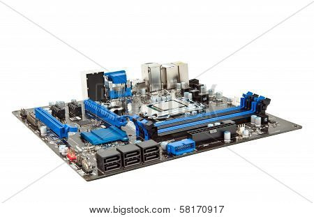 Laptop Motherboard Isolated