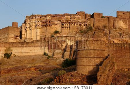 Ancient Indian Fortification In Jodphur