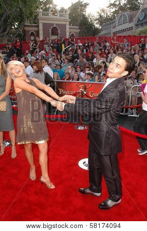 Apolo Ohno and friend  at the World Premiere of