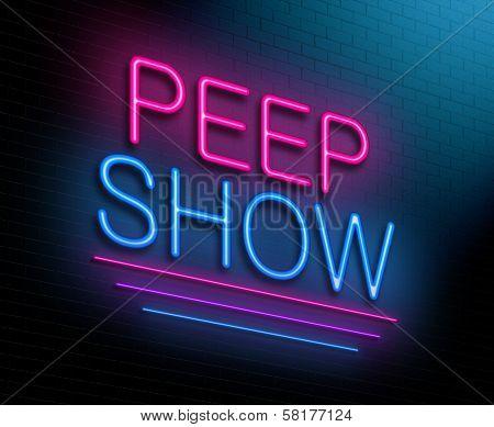 Peep Show Concept.