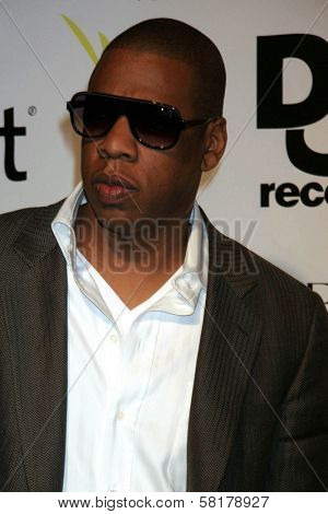 Jay Z at the party celebrating the release of Rihanna's New Album
