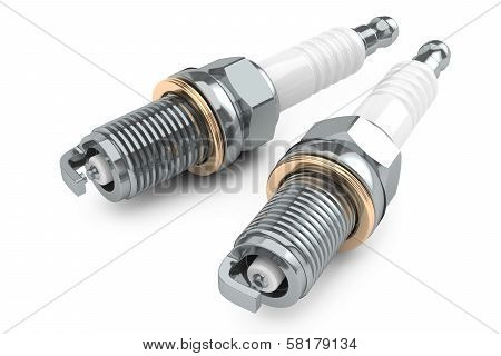 Group Of Spark plugs