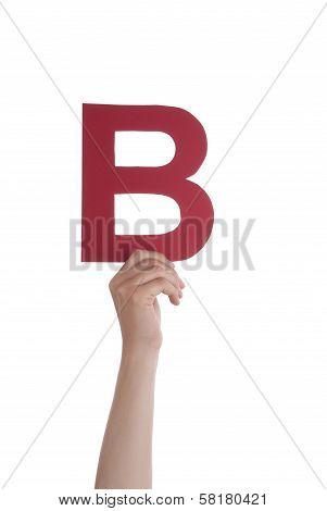 Hand With B