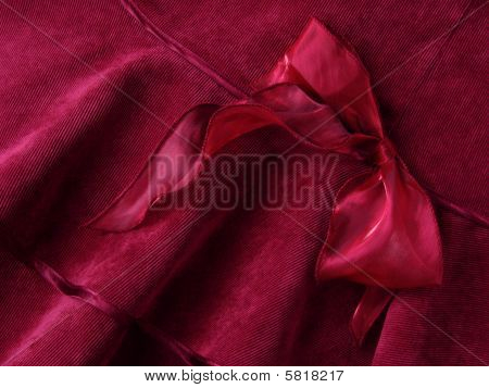 Deep Red Bow