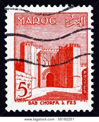 Postage Stamp Morocco 1955 Bab El Chorfa, Fez