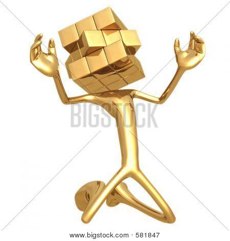 Gecodeerde puzzel kubus