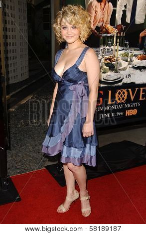 Sarah Jones at the season premiere of