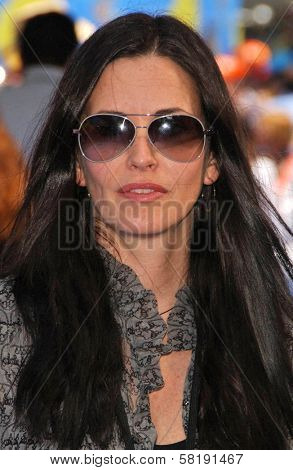 Courtney Cox at the Opening of Disneyland's