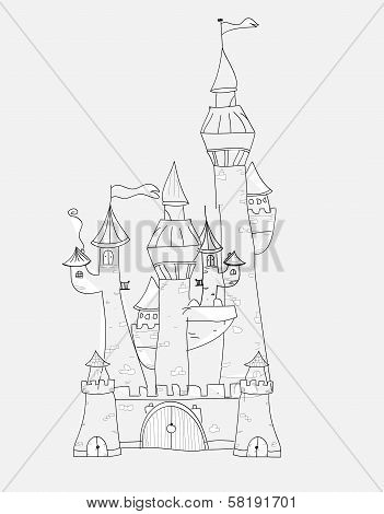 Sketchy Castle Vector Illustration