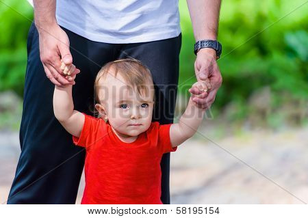 Toddler In Red Shirt