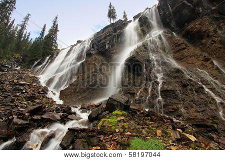 Seven Veils Falls, Lake O'hara, Yoho National Park, Canada