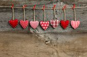 stock photo of elm  - Red patterned Valentine - JPG