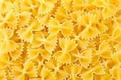Farfalle Pasta Texture Background.