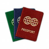 picture of passport cover  - Realistic Passport Set - JPG