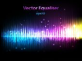 picture of waveform  - Equalizer background - JPG