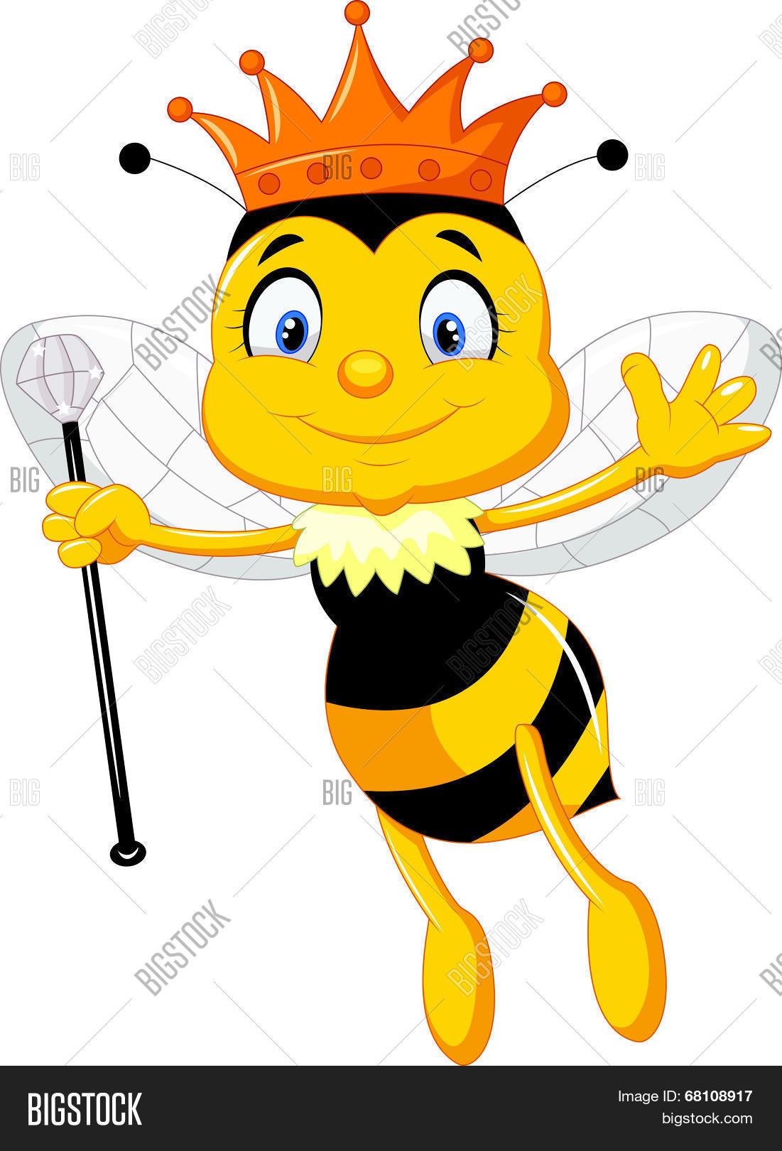 queen bee cartoon vector u0026 photo bigstock