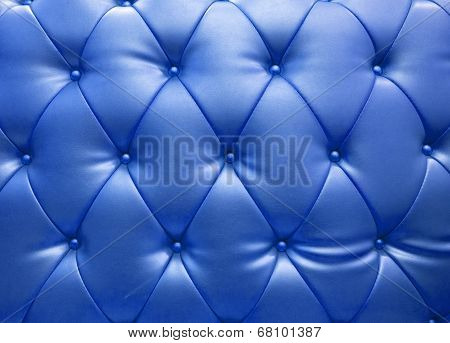 Blue Blue Upholstery Leather As Texture And Pattern