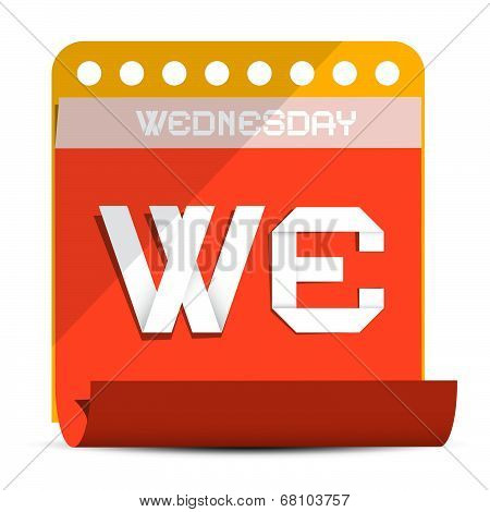 Wednesday Vector Paper Calendar Illustration