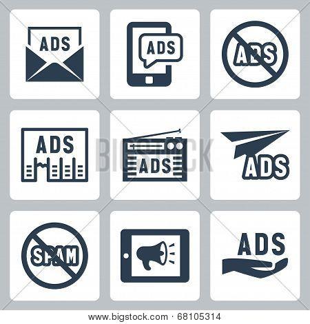 Advertisement Vector Icons Set #2