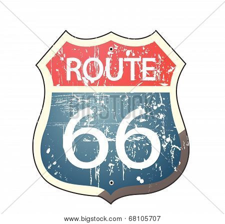 Grunge route 66 roadsign