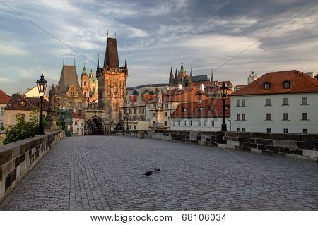 Charles Bridge In The Early Morning (prague)
