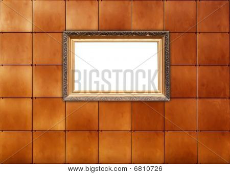 Picture Frame on Tiled Wall