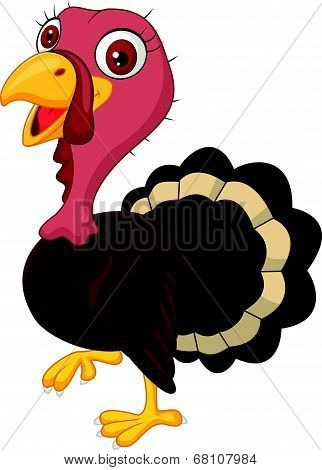 Cute cartoon turkey