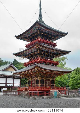 Japan. Pagoda at Narita Shinshoji temple
