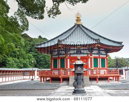 Prince Shotoku Hall at Shinsho Temple Narita Japan