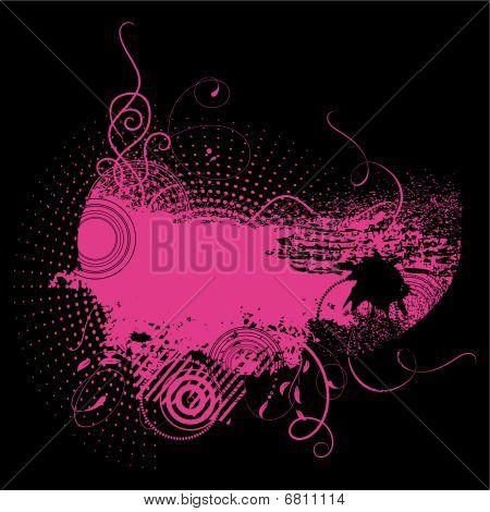 Grunge background in pink colour