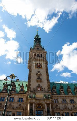 Town Hall In The Town Square In Hamburg In Germany