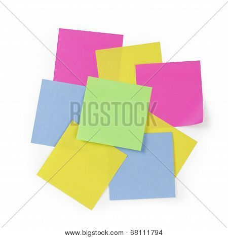 Bunch Of Sticky Note Reminders