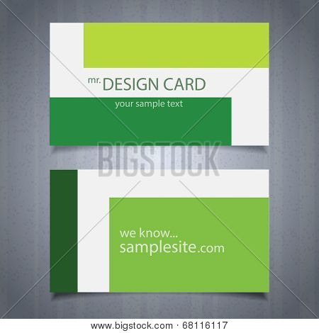 Eco card design, vector