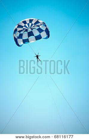 joyful flight to parachute