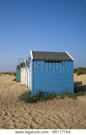 Beach Huts At Southwold, Suffolk, England