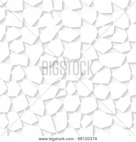 Seamless White Triangulated Origami Pattern. Eps10