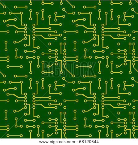 Seamless pattern of PCB vector