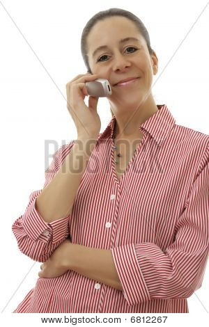 Business Woman With Mobile