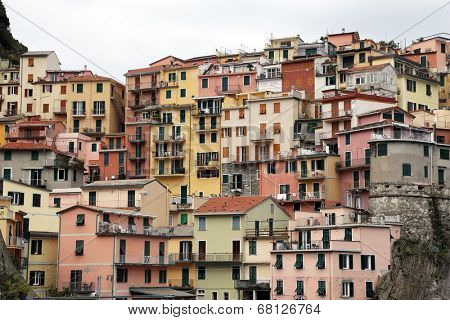 MANAROLA, ITALY - MAY 02: one of the Cinque Terre villages, UNESCO World Heritage Sites, remains a magnet for tourists to the famous Via dell'Amore remains closed, on May 02, 2014 in Manarola, Italy