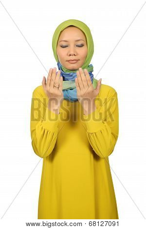 Young Moslem Woman Praying