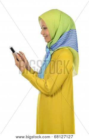 Modern Moslem Woman In Hijab