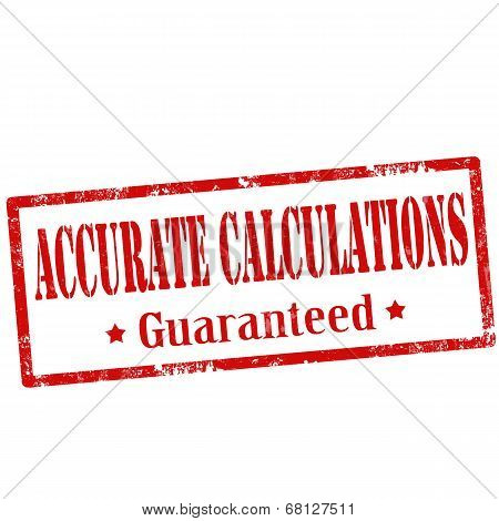 Accurate Calculations-stamp