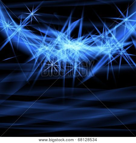 Abstract blue ardent background.