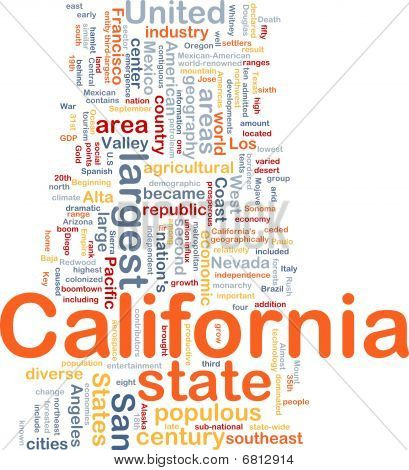 California State Background Concept