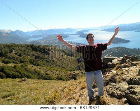 Man Bariloche Nature Patagonia