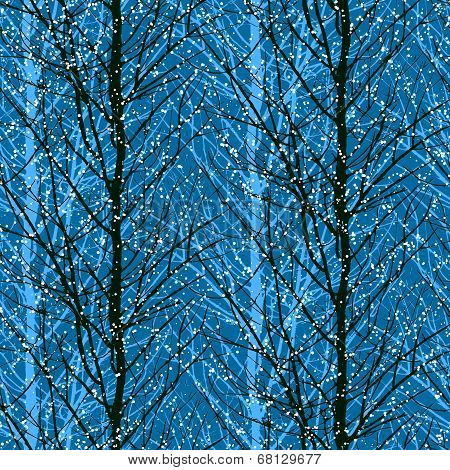 Pattern with trees silhouettes