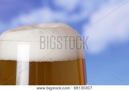 Beer In A Glass In Beergarden