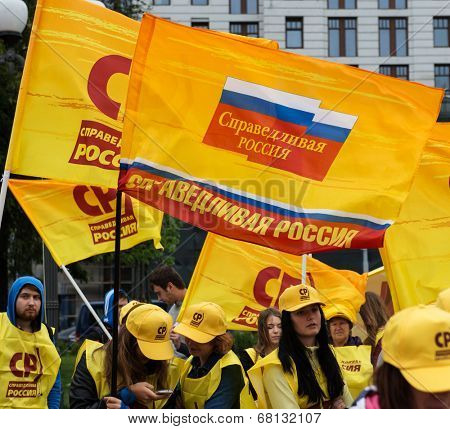 MOSCOW - JULY 11, 2014: Pro-Kremlin party