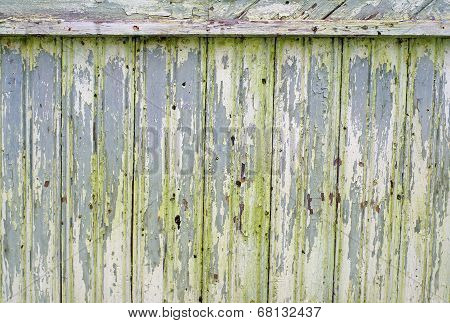 Shabby Texture Curve Light Green Fence
